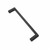 Guangdong Factory Customized Stainless Steel 304 Bathroom Shower Door Pull Handle Black Matte for Glass Door