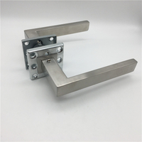 Modern Satin Stainless Steel Door Hardware Hollow Tube Interior Square Door Lever Handle