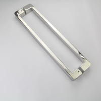 U Style Stainless Steel Bathroom Shower Pull Door Handle Brass Modern for Glass Door