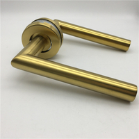 Golden Stainless Steel Modern Best Door Hardware Entrance Door Locks And Handles