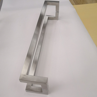 Square Rube Stainless Steel Door Pull Handle Stainless Steel Glass Long Door Handle Square Door Handle