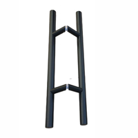 Solid Standoffs Heavy-Duty Commercial Grade-304 Stainless Steel Push Pull Door Handle Barn Door Pull Handle Glass Pulls Matte Black Finish