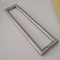 Canada Building Standard Internal Stainless Steel Round Rube Sqaure Style Glass Shower Door Handle For Bathroom Use